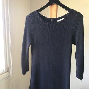Loft Knitted Dress - Navy
